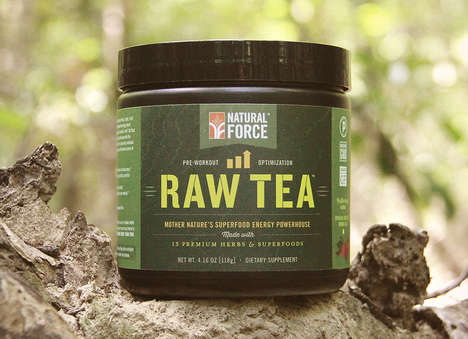 Pre-Workout Raw Teas
