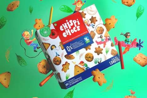 Doodled Kids Cookie Packaging - This Range of Snack Cookies for Children Boasts Crafty Pouch Designs