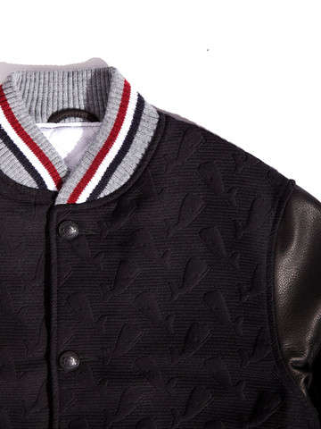 Whale-Embossed Jackets - Thom Browne's Jacquard Varsity Jacket Makes Free Willy Look Fashionable