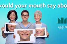 Dental Hygiene Selfie Campaigns - This Campaign Encourages Users to Promote Good Dental Health