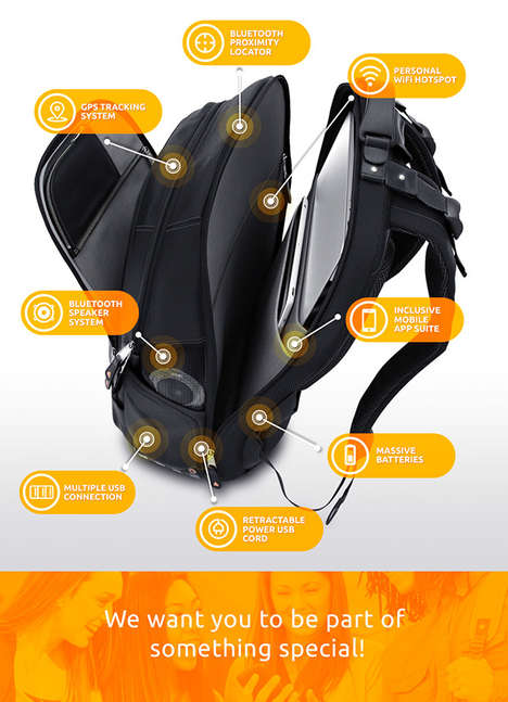 Technologically Savvy Backpacks - The 'iBackPack' Boasts an Impressive List of High-Tech Features