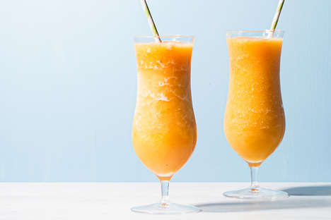 Smokey Smoothie Cocktails - This Boozy Blended Peach Drink Features Notes of Honey and Whiskey