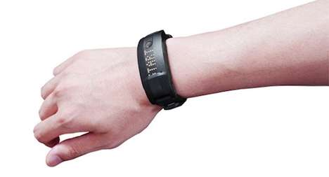 Senior-Tracking Smartbands - The Toshiba Slimee W21 Activity Tracker Smartband Monitors Seniors