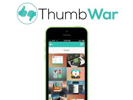 Rewards-Based Social Networks - The 'Thumb War' App Treats the Most Popular Users to Discounts