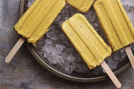Mango Banana Pudding Popsicles