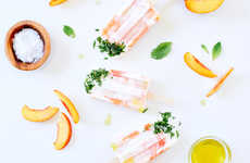 Nectarine Olive Oil Popsicles - These Unusually Flavored Frozen Yogurt Popsicles are Very Healthy
