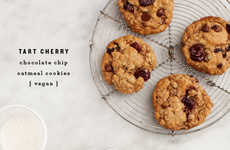 Vegan Cherry Biscuits - These Oatmeal Chocolate Chip Cookies are Nutritiously Dairy-Free