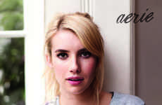 Untouched Celebrity Fashion Ads - The #AerieReal Campaign Features Emma Roberts as the Brand's Model