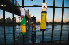 Rapper-Branded Socks - These Action Bronson Art Socks are Colorful and Cartoonish