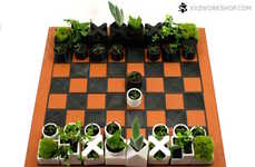 Planter Game Boards - This 3D-Printed Chess Set is Like a Playable Miniature Garden