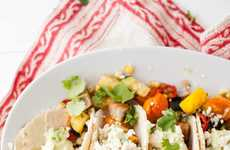 Spicy Vegetarian Tacos - These Meat-Free Tacos Feature Seasonal Vegetables Roasted in Cumin