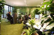 Overflowing Foliage Offices - The 'easyCredit' Office Building has a Unique Design for Each Level