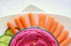 Roasted Beet Hummus - This Simple Hummus Recipe Creates a Vibrantly Colored Spread