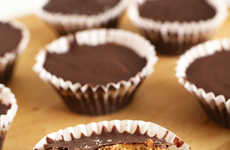 Bourbon Butter Cups - These Caramel Almond Butter Cups Feature a Tangy Whiskey Kick