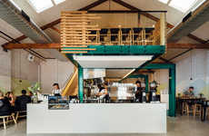 Repurposed Minimalist Cafes - These Architects Take This Old Workshop and Turn It into a Cafe