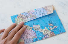DIY Map Envelopes