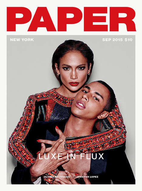 Haute Songstress Covers - Jennifer Lopez Debuts Her Status as Face of Balmain With Paper Magazine