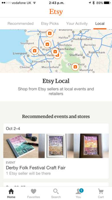 P2P Retailer-Locating Apps - The Etsy Local App Feature Shows You When Sellers are Nearby