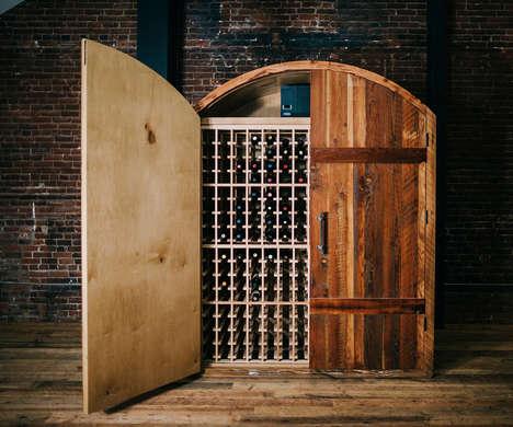 Handcrafted Hardwood Wine Cabinets