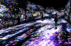 Digital Butterfly Exhibits - This Project by 'teamLab' Features Glowing Butterflies Consuming a Room