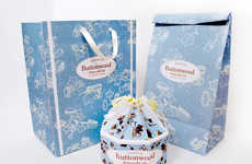 Blossoming Cake Packaging - These Buttonwood Cake Boxes Resemble Beautiful Blue Flowers in Bloom
