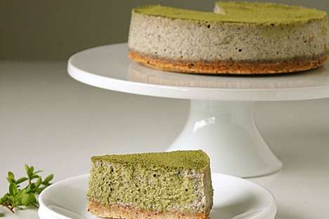 Black Sesame Cheesecakes - This Creamy Cake is Infused with Traditional Japanese Ingredients