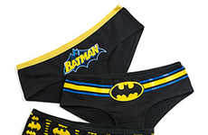 Illuminating Superhero Underwear - These Batman-Themed Briefs Have a Glow-in-the-Dark Design Pattern