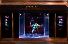 Interactive Holographic Displays - This Futuristic Display Window Showcases Ralph Lauren Polotech
