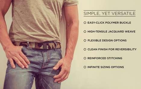 Notch-Free Reversible Belts