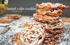 Carnival Pie Cookies - This Decadent Dessert Combines a Slice of Apple Pie with a Funnel Cake