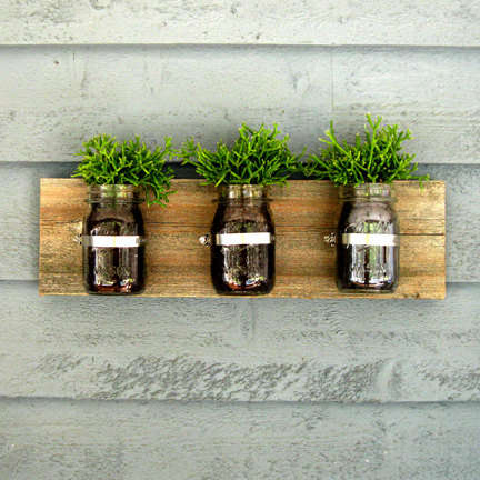 From Mason Jar Wine Packaging to Upcycled Glass Planters