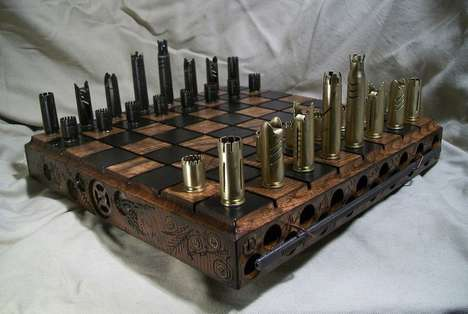 Steampunk-Inspired Chess Sets - This Handcrafted Custom Chess Set is a Playable Pieces of Art