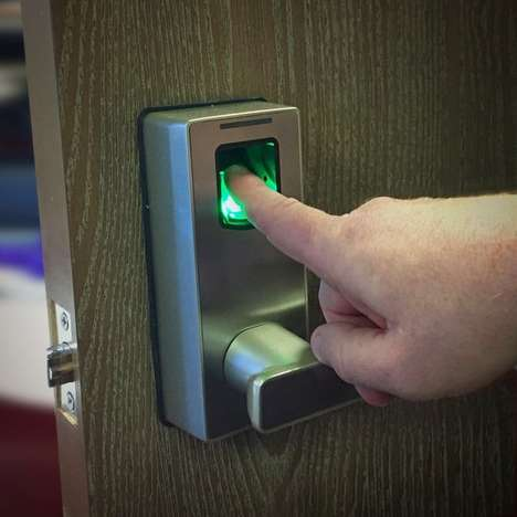 Futuristic Fingerprint Locks - This Device Lets Users Unlock Doors with Just a Fingerprint