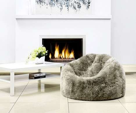 Opulent Sheepskin Bean Bags - These Contemporary Bean Chairs are Stylish Enough for Any Living Room