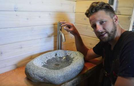 DIY Carved Stone Sinks - This Easy Tutorial Teaches You How to Carve a Bathroom Sink in Four Hours