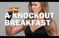 Fighter Food Ads - 'Carl's Jr' is Using Ronda Rousey to Sell a Breakfast Sandwich