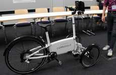 Smartphone-Controlled E-Bikes - The CoModule Three-Wheeler E-Bike Features Autonomous Workings