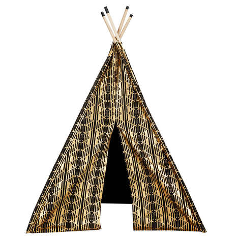 Glamorous Metallic Tents - This Luxurious In-Home Teepee Allows Kids to Play in Style