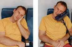 Arm Rest Pillows - The Airplane Pillow Has an Extendable Arm to Help You Get Comfortable