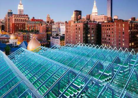Fish-Fed Rooftop Gardens - This Aquaponic Greenhouse is Located on Top of a Metalworking Shop