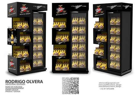 Zig-Zag Beer Displays