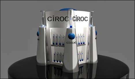 Architectural Vodka Displays