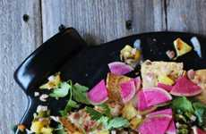 Grilled Pineapple Nachos - This Fruity Take on the Popular Bar Fare Adds Sweet Flavors to the Dish