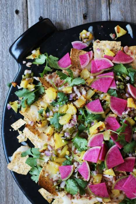Grilled Pineapple Nachos