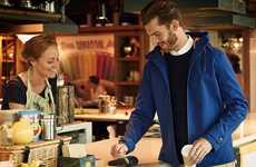 Practical Payment Jackets - The bPay Jacket Contains Wireless Pay Technology in its Sleeve Cuffs