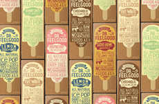 Artisan Popsicle Packages - This Healthy Treat Uses Wholesome Ingredients & Sustainable Packaging