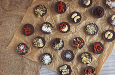 Superfood Chocolate Desserts - These Dark Chocolate Bark Bites are Topped With Various Health Items
