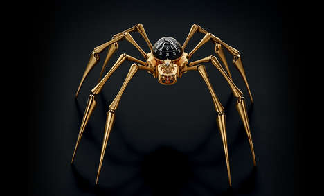 Luxurious Arachnid Clocks - This Frightening Spider Clock Hangs on Walls for a Price of $18,000
