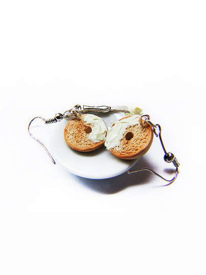 Quirky Bagel Earrings