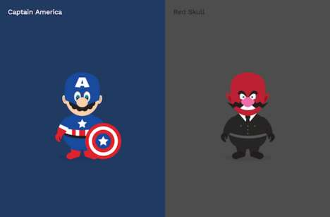 Superhero Gamer Illustrations